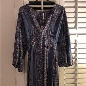 Blue free people maxi dress